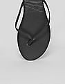 GAP Women Black Solid Contrast Sole Flip Flops