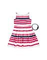 U.S. Polo Assn. Kids Girls Striped Cotton Fit And Flare Dress