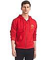 U.S. Polo Assn. Red Solid Hooded Sweatshirt